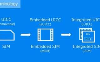 SIM-решения (eSIM и iSIM) для рынка IoT