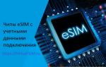 Чипы eSIM с учетными данными подключения
