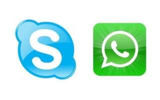 WhatsApp и Skype для бесплатных голосовых звонков