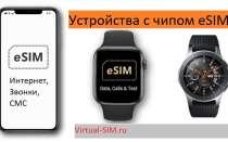 Устройства поддерживающие eSIM (список): смартфоны, планшеты, умные часы
