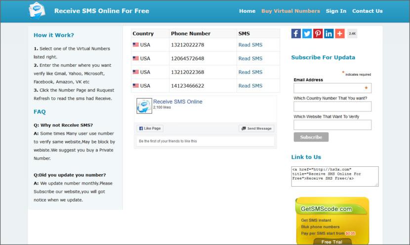 8 сайтов для получения бесплатных SMS через виртуальные номера для онлайн проверки